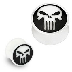 Plug courbe en os punisher