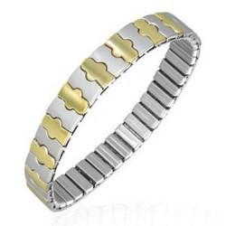 Bracelet acier flex 12 - Acier et Gold-ip