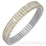 Bracelet acier flex 20 - Trois lignes Gold-IP