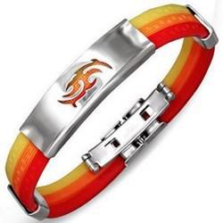 Bracelet caoutchouc 81 - Trois couleurs tribal