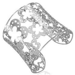 Bracelet jonc 20 - Large avec fleurs