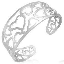 Bracelet jonc 23 - Coeurs