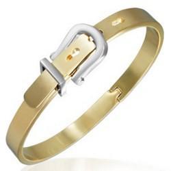 Bracelet jonc 24 - Gold IP style ceinture