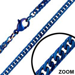 Chaine PVD bleue A mailles 2mm