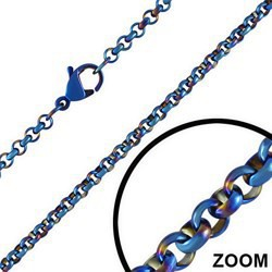 Chaine PVD bleue B mailles 2mm