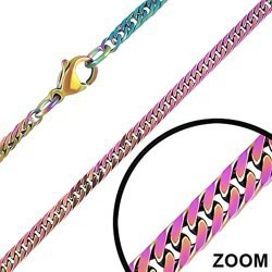 Chaine PVD rainbow mailles 3mm
