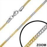 Chaine acier et plaqué-or B mailles 2,5mm