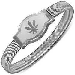 Bracelet acier flex 22 - Cannabis