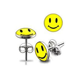 Stud argent 06 - Logo smiley