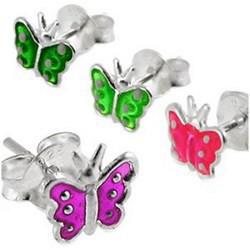 Stud argent 27 - Papillon