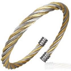 Bracelet cable 10 - Gold ip et argenté
