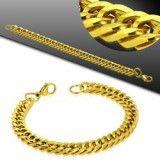Bracelet acier chaine 04 - Gold-ip mailles serrées