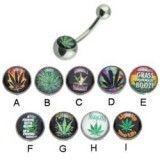 Piercing nombrils logos série cannabis