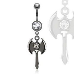 Piercing nombril gothique 92 - Hache