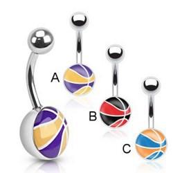 Piercing nombril logo basket