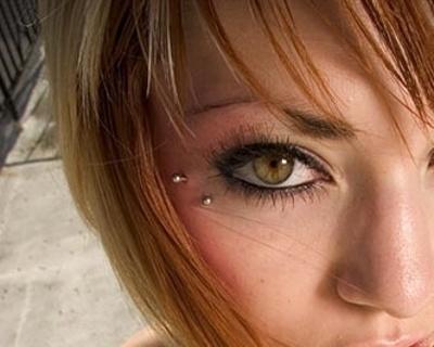 Piercing anti-arcade de face