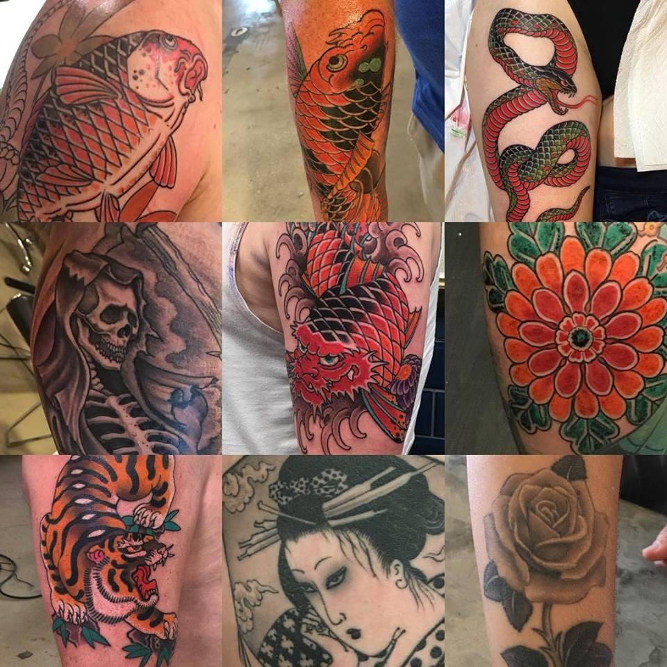 Divers tatouages réalisés par Ami James