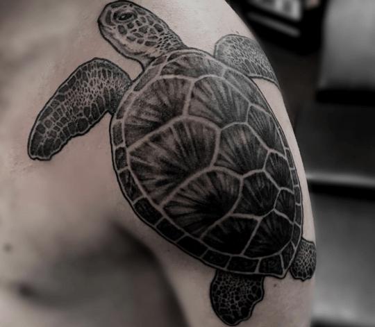 Tatouage d'une tortue
