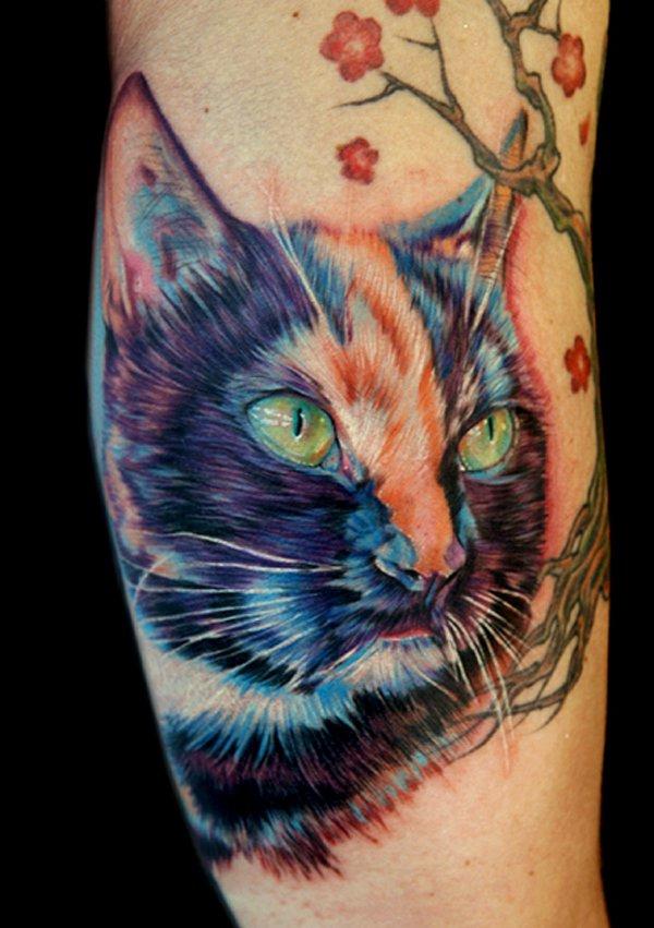 Tatouage d'un chat